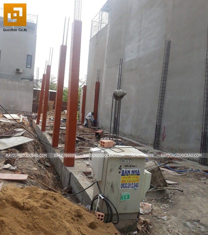 Thi công phần móng nhà phố 3 tầng - Ảnh 9