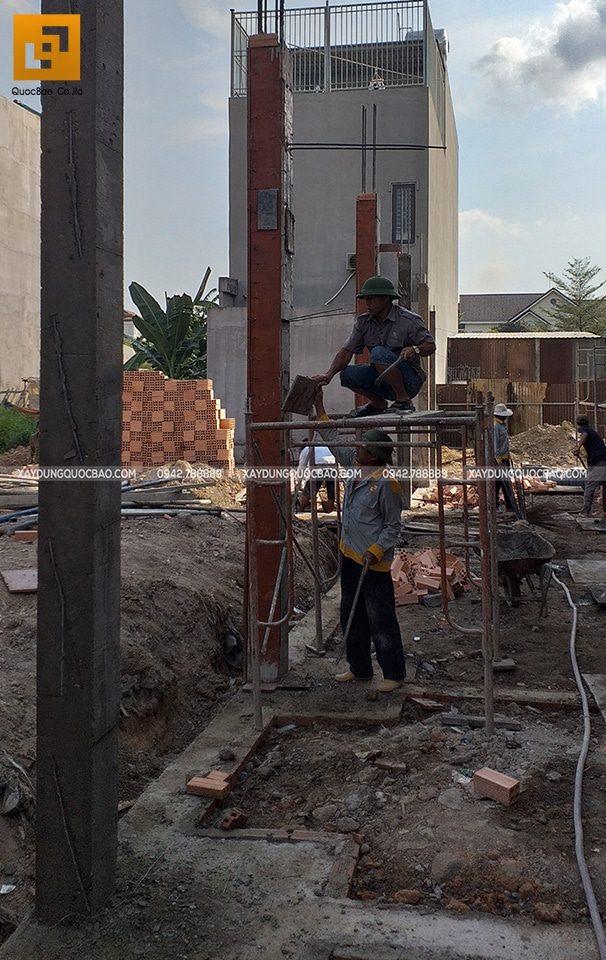 Thi công phần móng nhà phố 3 tầng - Ảnh 10