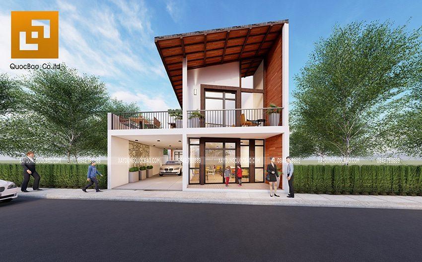 Thiết kế quán cà phê kết hợp nhà ở tại Đồng Nai của anh Thành