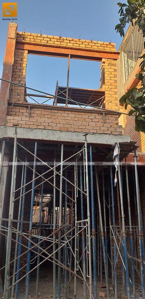 Công tác xây dựng phần thô lầu 1 tại Biên Hòa
