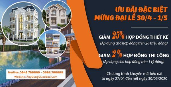 Chương trình khuyến mãi ưu đãi xây nhà tháng 05/2020