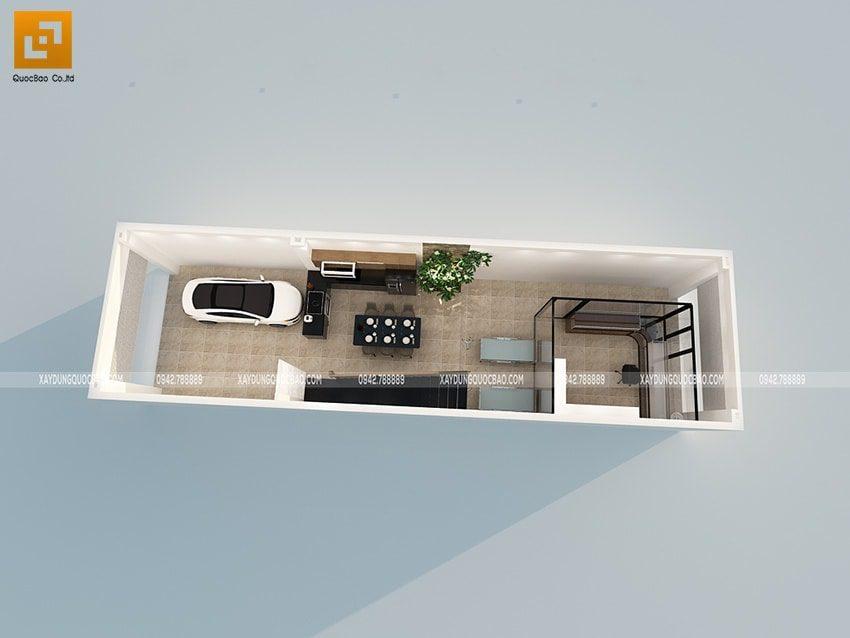 Mặt bằng vật dụng tầng trệt nhà ở kết hợp kinh doanh mặt tiền 5m