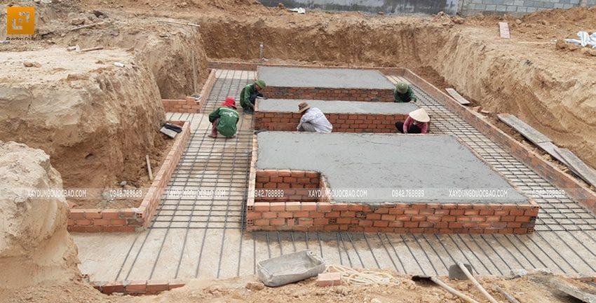 Thi công phần móng biệt thự 2 tầng có hầm - Ảnh 8