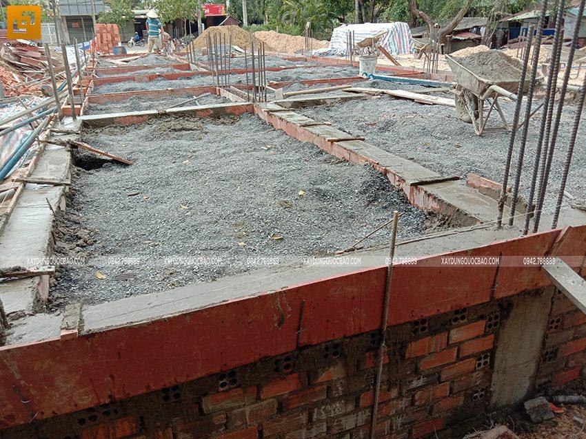 Thi công phần móng nhà 3 tầng - Ảnh 12