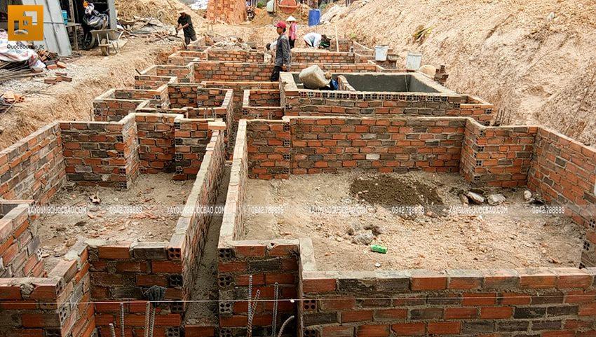 Thi công phần móng nhà 3 tầng - Ảnh 5