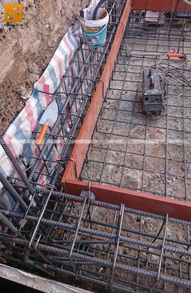 Thi công phần móng nhà phố hiện đại - Ảnh 5