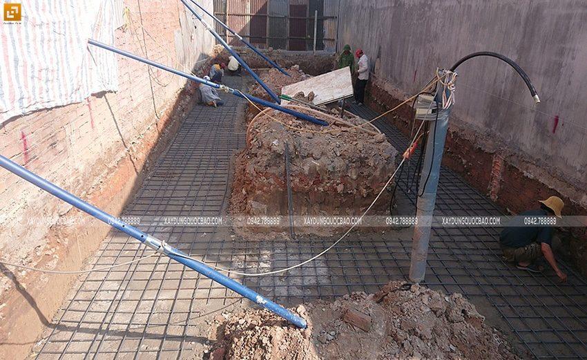 Thi công phần móng nhà phố hiện đại - Ảnh 1