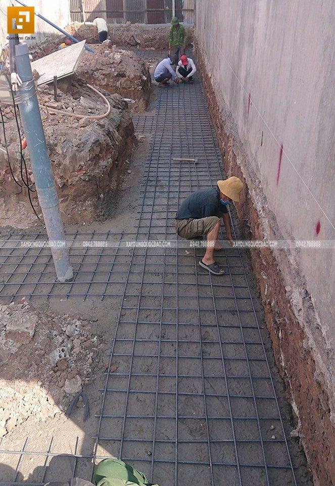 Thi công phần móng nhà phố hiện đại - Ảnh 2