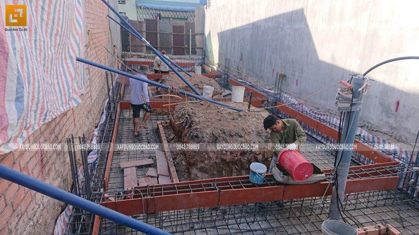 Thi công phần móng nhà phố hiện đại - Ảnh 6