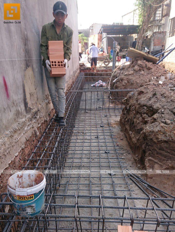 Thi công phần móng nhà phố hiện đại - Ảnh 3