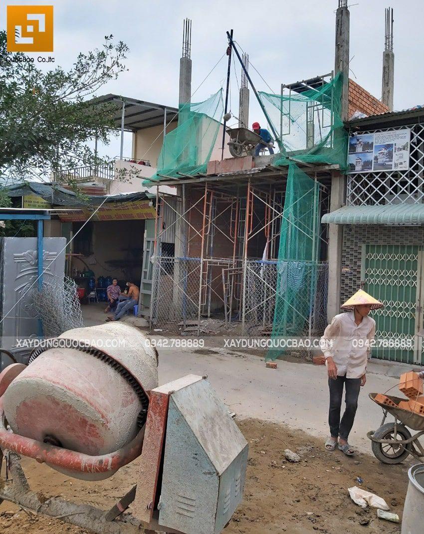 Hiện trường thi công nhà phố 3 tầng tại Vĩnh Cửu