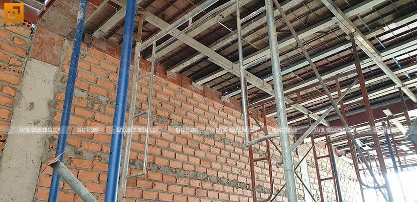 Công tác chuẩn bị đổ bê tông dầm, sàn