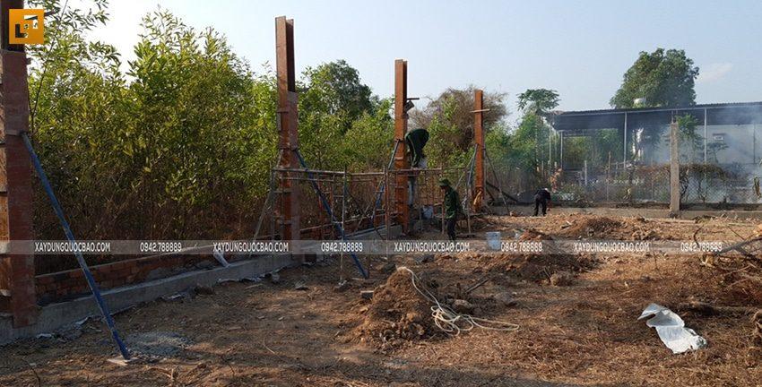 Công tác thi công tường rào, hàng rào quanh khu đất - Ảnh 5