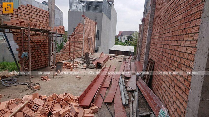 Công tác xây tường bao, tường ngăn