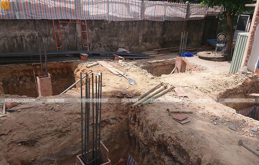 Thi công đổ bê tông móng đơn Biệt thự kiểu Nhật - ảnh 4