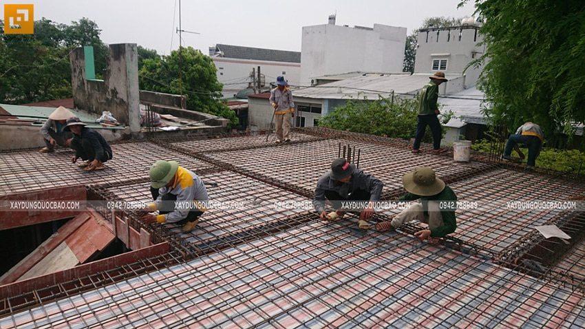 Công tác đan cốt thép 2 lớp dầm, sàn - ảnh 2