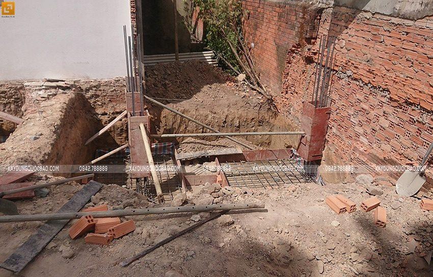 Thi công đổ bê tông móng đơn Biệt thự kiểu Nhật - ảnh 3