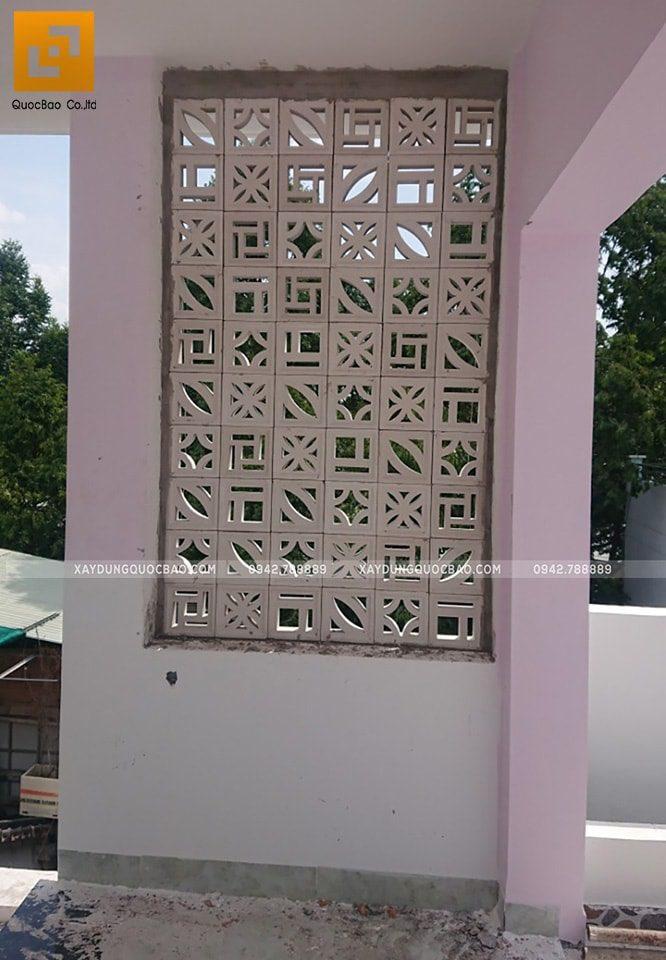 Thi công sơn trang trí khu vực trước nhà