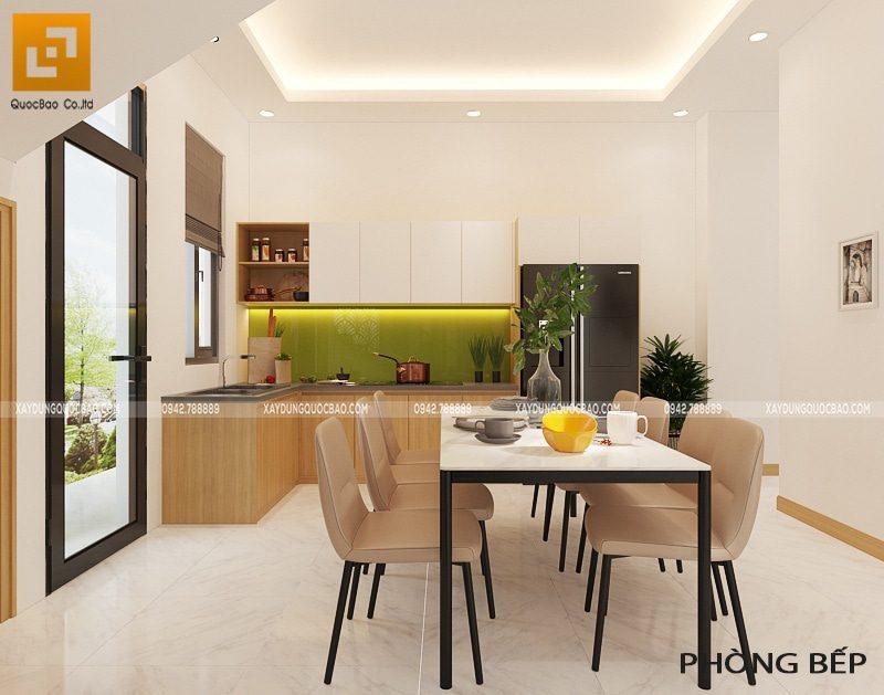 Không gian phòng bếp đầy đủ tiện nghi cho nội trợ