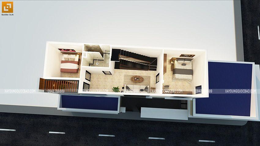 Bố trí công năng sử dụng lầu 1 của ngôi nhà
