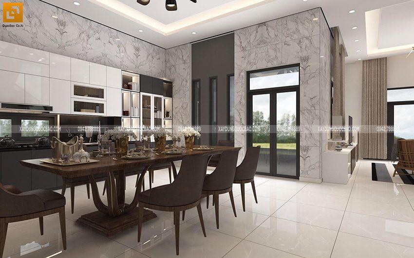 Không gian sinh hoạt chung của cả nhà luôn đủ ánh sáng do có nhiều cửa kính.