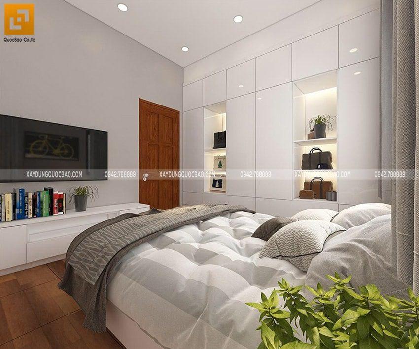 Trong phòng ngủ đặt một chậu cây xanh để thanh lọc không khí, đem đến giấc ngủ ngon