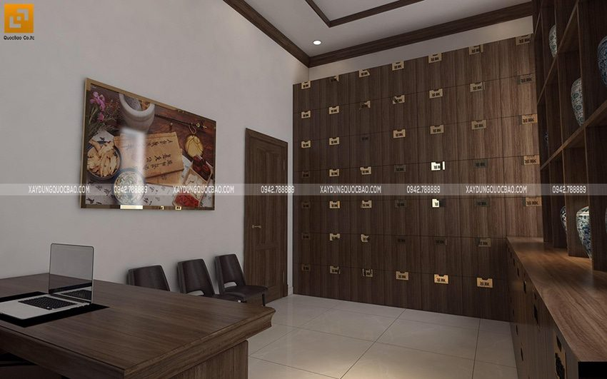 Phòng trưng bày thuốc đông y của chủ nhà