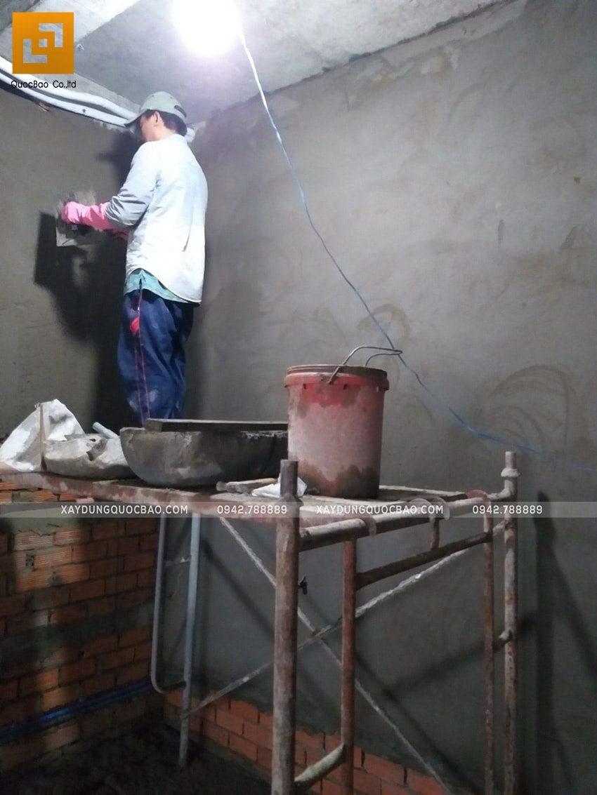 Thi công tô trét tường vây, tường ngăn - Ảnh 4