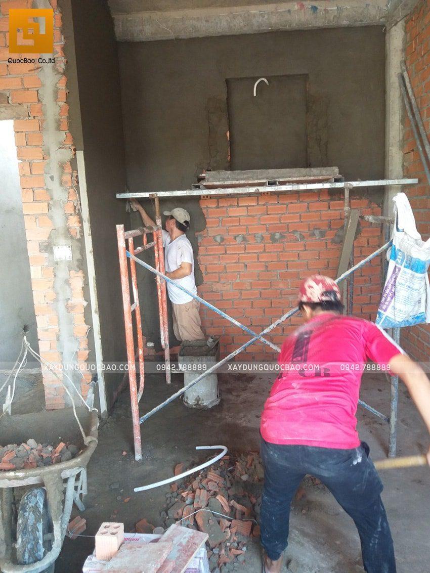Thi công tô trét tường vây, tường ngăn - Ảnh 3