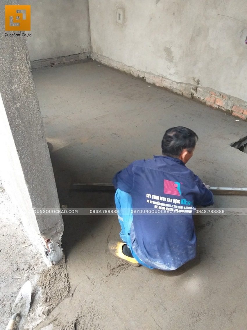 Công tác tráng nền, tạo mặt phẳng để ốp gạch nền trang trí