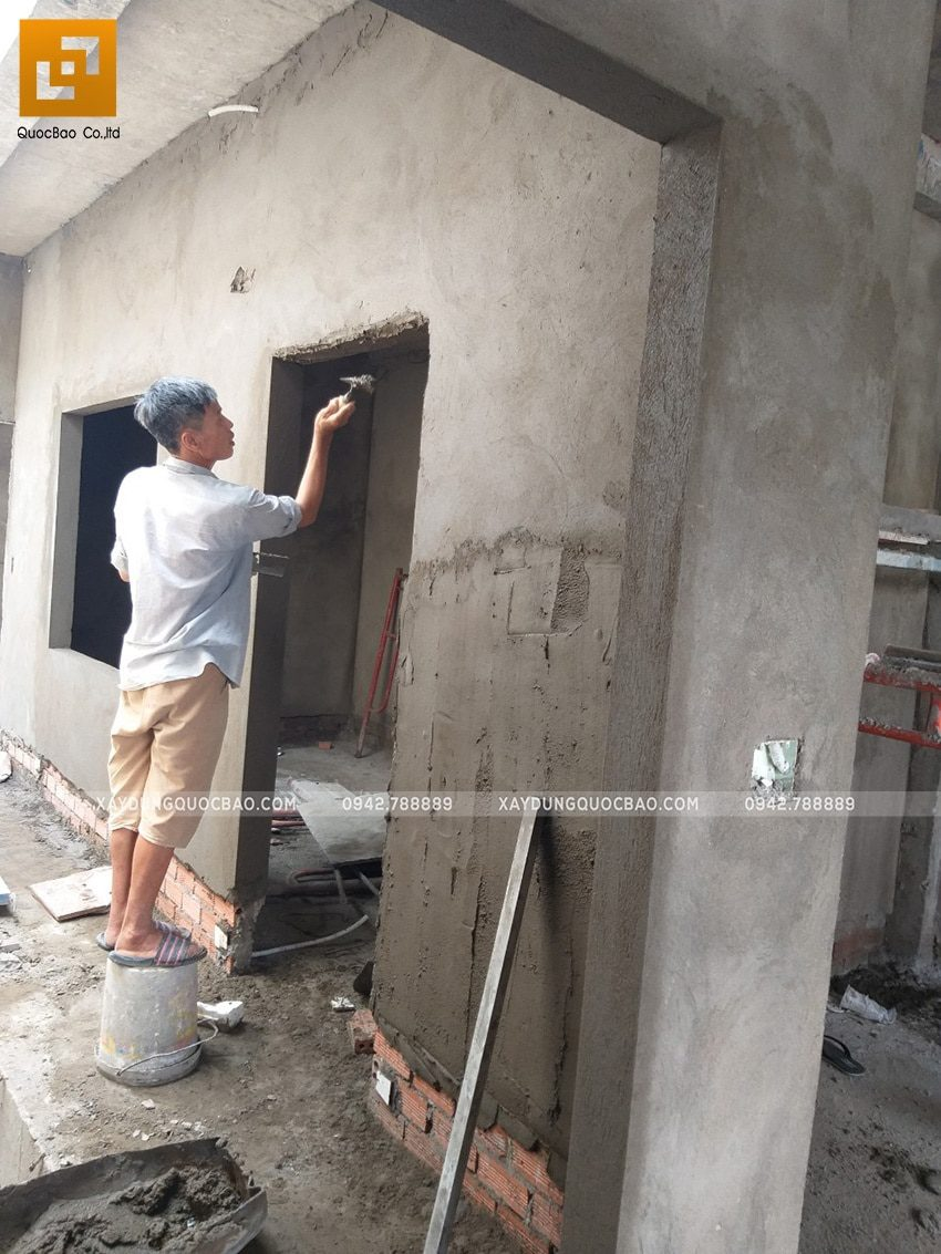 Thi công tô trét tường vây, tường ngăn - Ảnh 5