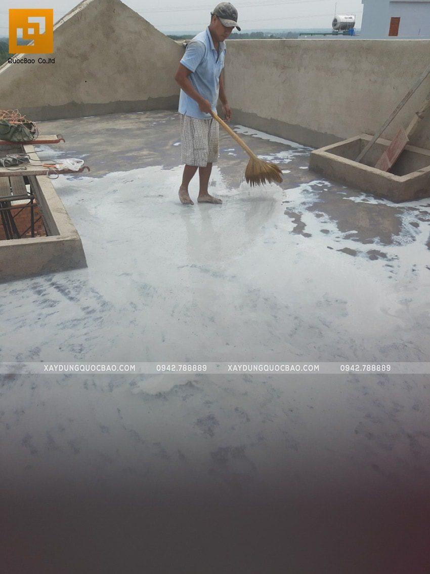 Thi công chống thấm sika sàn mái sân thượng nhà 3 tầng