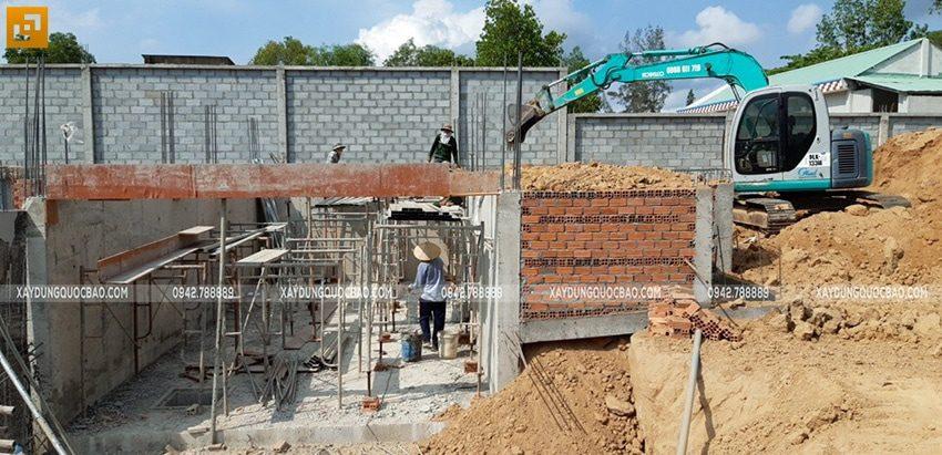 Thi công tầng hầm Biệt thự - Ảnh 2