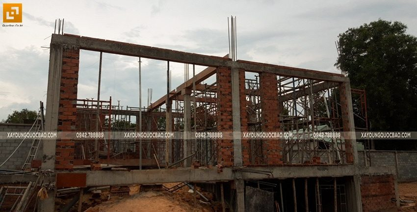 Thi công xây tường bao, tường ngăn lầu 1 - Ảnh 4