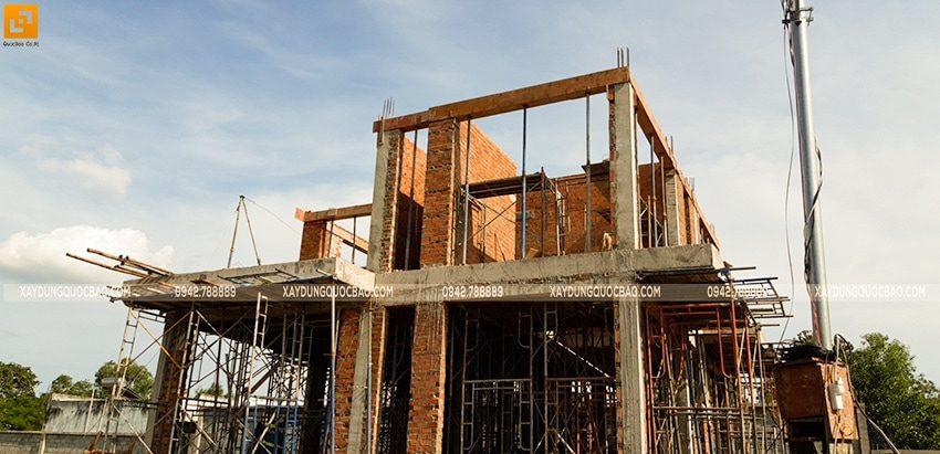 Thi công xây tường bao, tường ngăn lầu 1 - Ảnh 2