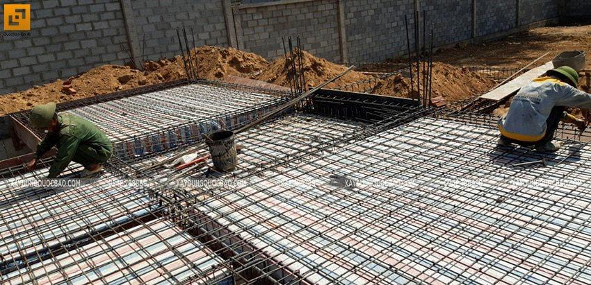 Đan cốt thép 2 lớp dầm, sàn tầng trệt - Ảnh 5