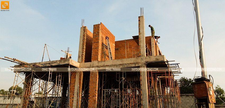 Thi công xây tường bao, tường ngăn lầu 1 - Ảnh 5