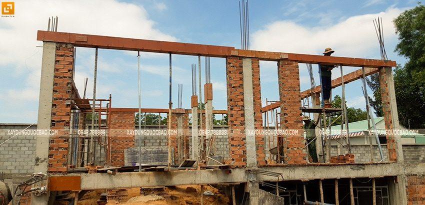 Thi công xây tường bao, tường ngăn lầu 1 - Ảnh 3