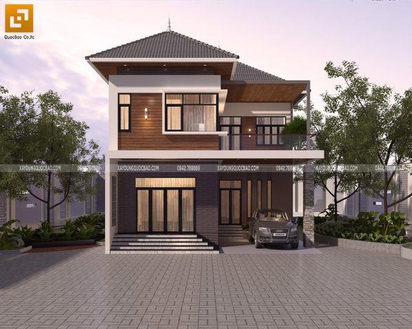 Thiết kế biệt thự kiểu Nhật 2 tầng hiện đại của anh Thành tại Biên Hòa