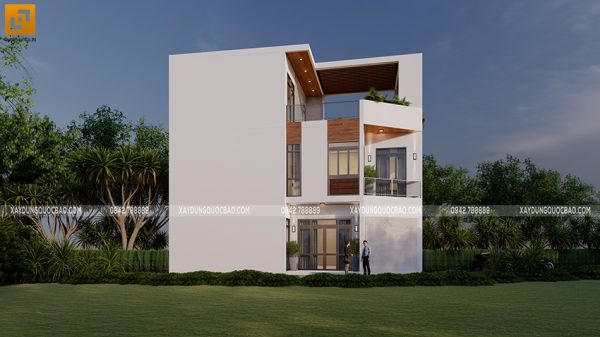 Thiết kế nhà phố hiện đại 3 tầng kết hợp kinh doanh tiệm sửa xe của chị Phương tại Biên Hòa