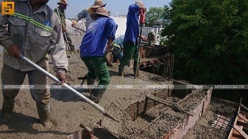 Đổ bê tông sàn mái Biệt thự Nhật Bản - Ảnh 3
