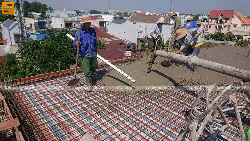 Đổ bê tông sàn mái Biệt thự Nhật Bản - Ảnh 4