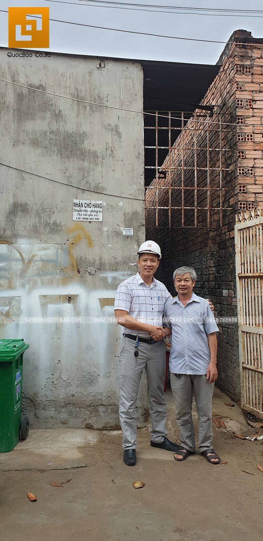 Khởi công nhà phố 3 tầng anh Cường tại Biên Hòa - Ảnh 2