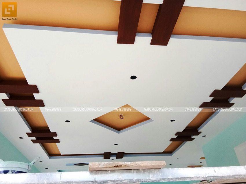 Trang trí trần thạch cao phòng khách ấn tượng
