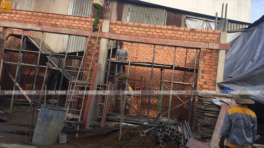 Lắp dựng ván khuôn cofa dầm tầng trệt - Ảnh 3