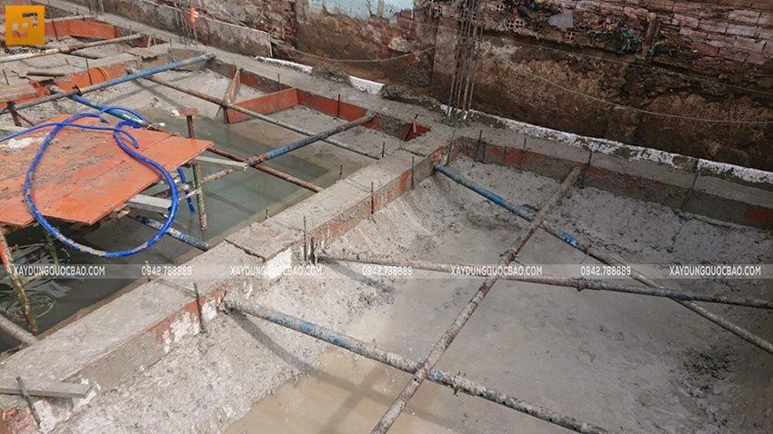 Thi công phần móng nhà ống 3 tầng - Ảnh 9
