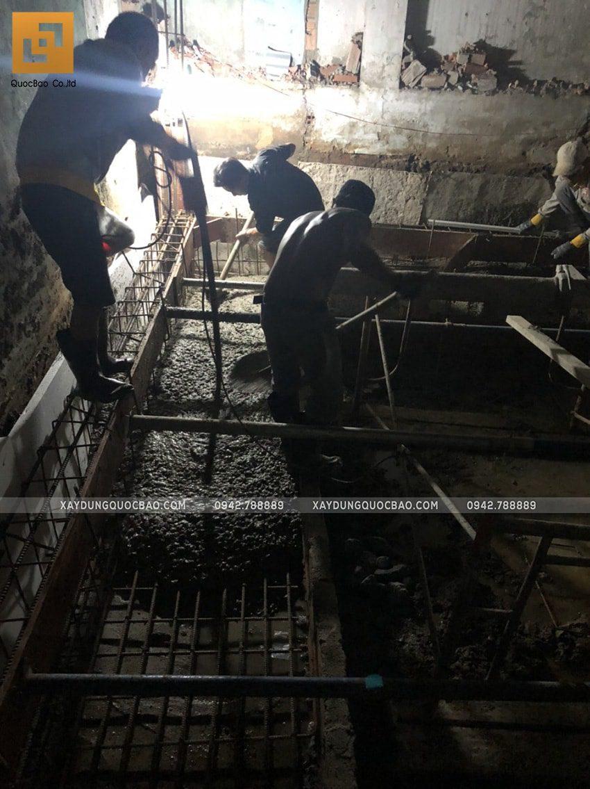 Thi công phần móng nhà ống 3 tầng - Ảnh 8