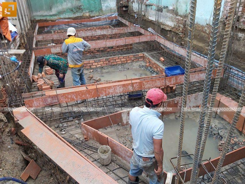 Thi công phần móng nhà ống 3 tầng - Ảnh 4