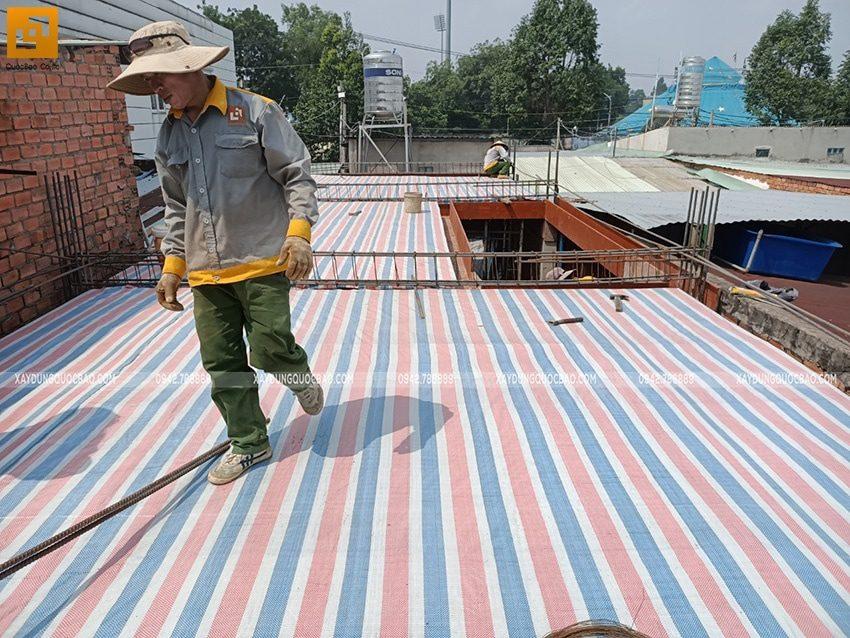 Lắp đặt ván cofa dầm sàn tầng trệt - Ảnh 5