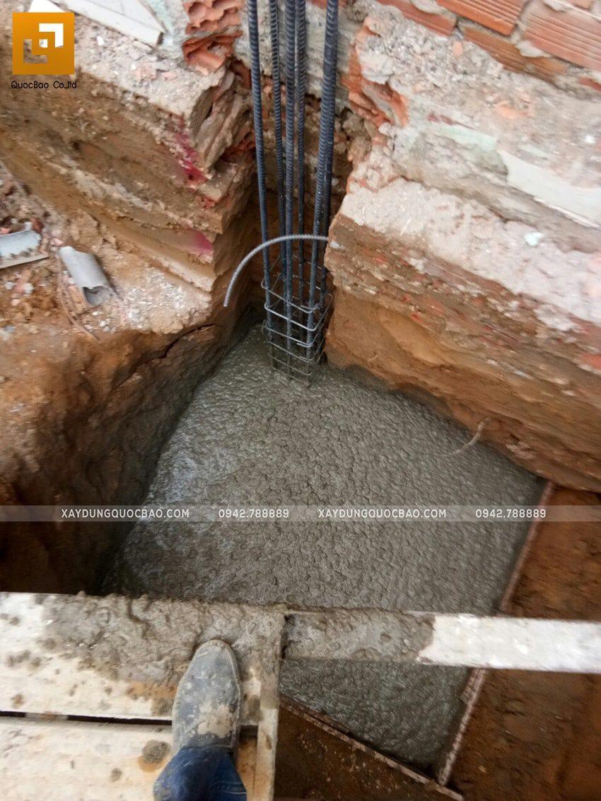 Công tác thi công hố móng nhà phố - Ảnh 5